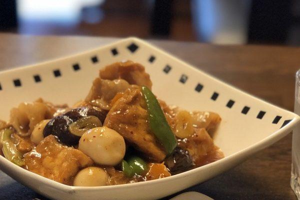 家常豆腐(揚げ豆腐の野菜辛煮)